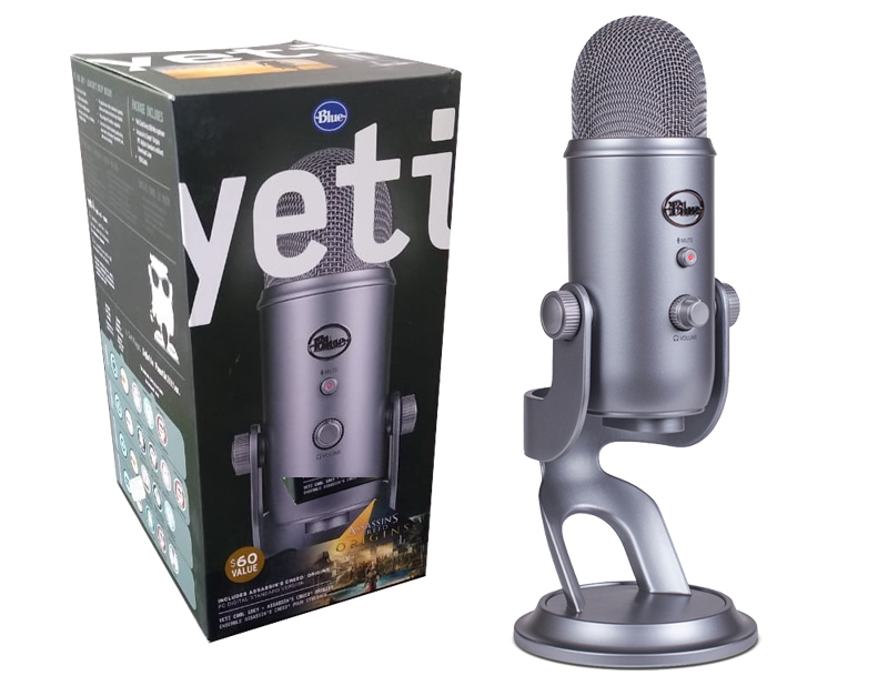 Microfono Usb Blue Yeti Cool Grey
